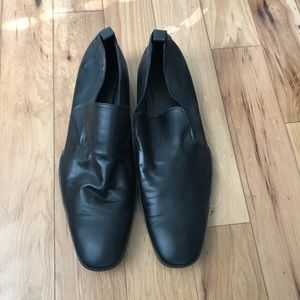 Doucal's black leather loafers size 46 (US 13)